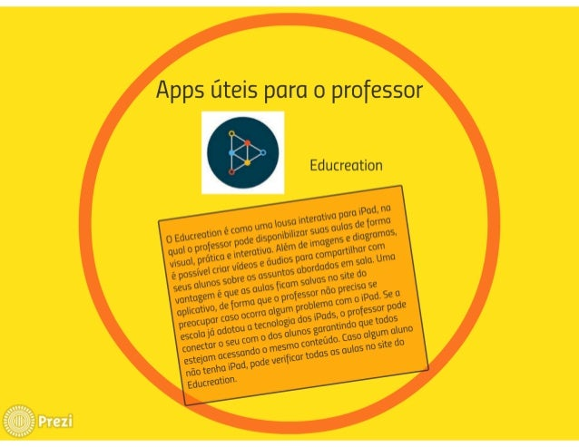 Apps üteis para o professor    .  q Educreation
