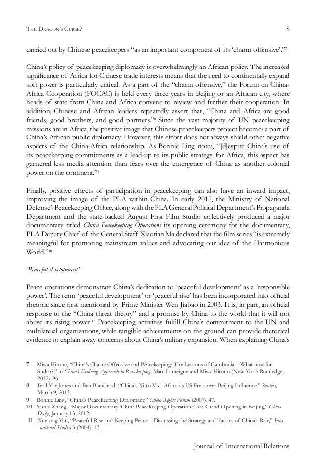 chinas evolving approach to peacekeeping lanteigne marc hirono miwa