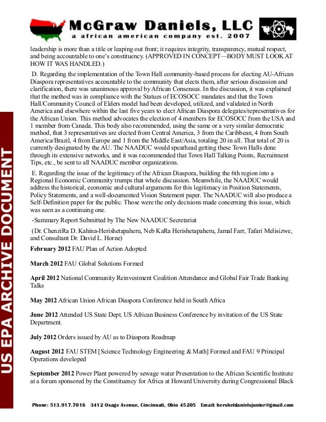 Caucus October 2012 FAU Conference Call for the Big Black Call on October 16th 2012, added the 10th FAU Principal Operatio...