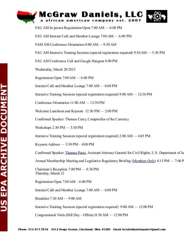 Congressional Luncheon (Offsite) 12:00 PM — 1:30 PM Workshops 2:30 PM — 4:00 PM BREAK 4:00 PM — 4:15 PM Workshops 4:15 PM ...