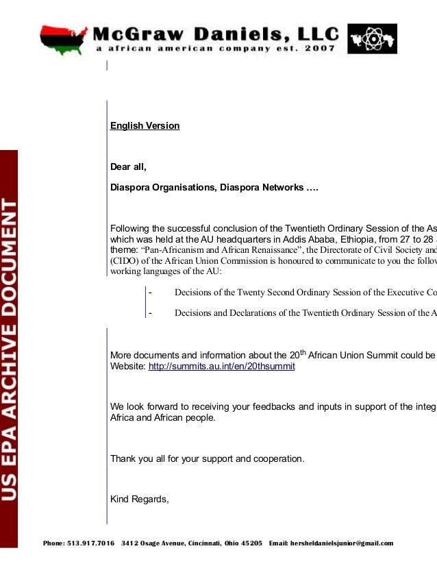 Diaspora Division/CIDO Version Française Bonjour à tous, Les Organisations de la Diaspora, réseaux de la Diaspora .... Sui...