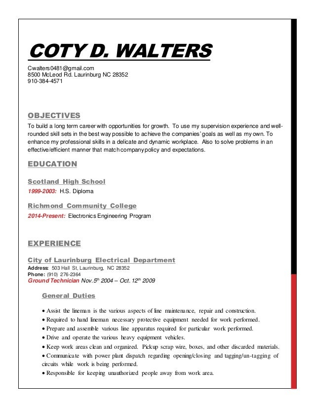 coty d walters resume linked in