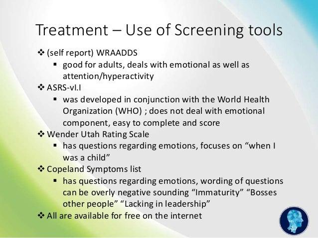 copeland symptoms checklist for adult adhd