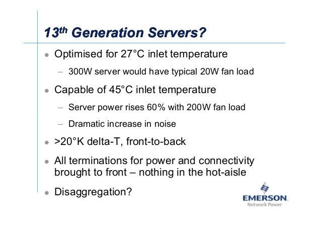 ʀͬ 1313thth Generation Servers?Generation Servers?1313thth Generation Servers?Generation Servers? Optimised for 27°C inlet...