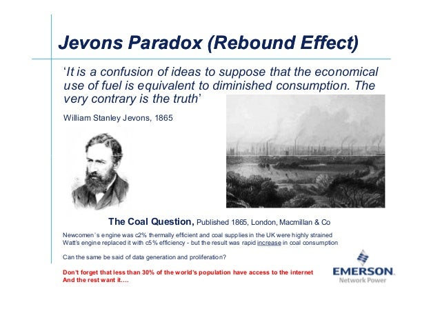 Jevons Paradox (Rebound Effect)Jevons Paradox (Rebound Effect) 'It is a confusion of ideas to suppose that the economical ...