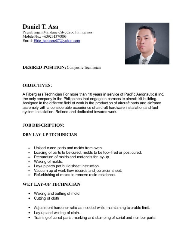 resume job order