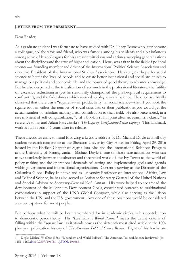 michael doyle liberalism and world politics pdf