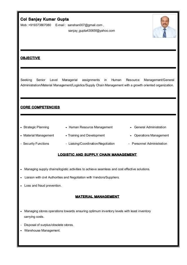 resume sanjay gupta new