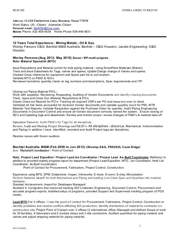 dturkovic resume may 20 2015b