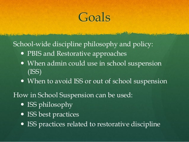 in school suspensions out of school suspensions and expulsions essay Detention, suspension, and expulsion 708-1 the right to a public education is not absolute it may be taken away, temporarily or permanently, for violations of school rules when school authorities have adhered to the.