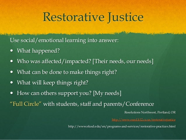 Iss 2015 Policy Practice And Restorative Justice