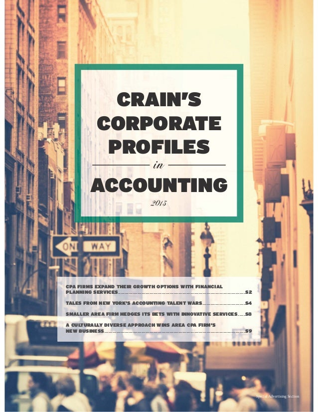 CPA FIRMS EXPAND THEIR GROWTH OPTIONS WITH FINANCIAL PLANNING SERVICES.......................................................