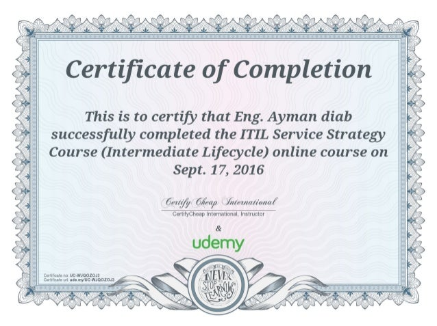ITIL Service Strategy Course (Intermediate Lifecycle)