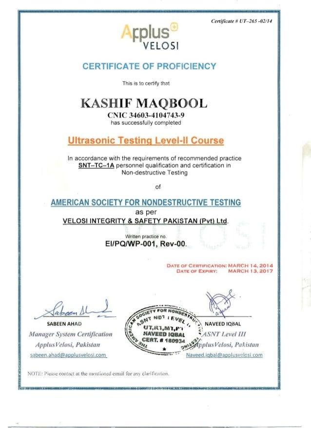 Ut Level Ii Certificate