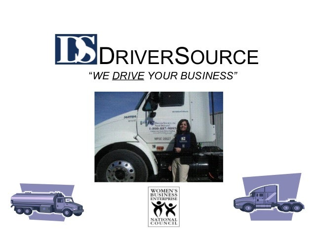 """DRIVERSOURCE """"WE DRIVE YOUR BUSINESS"""""""