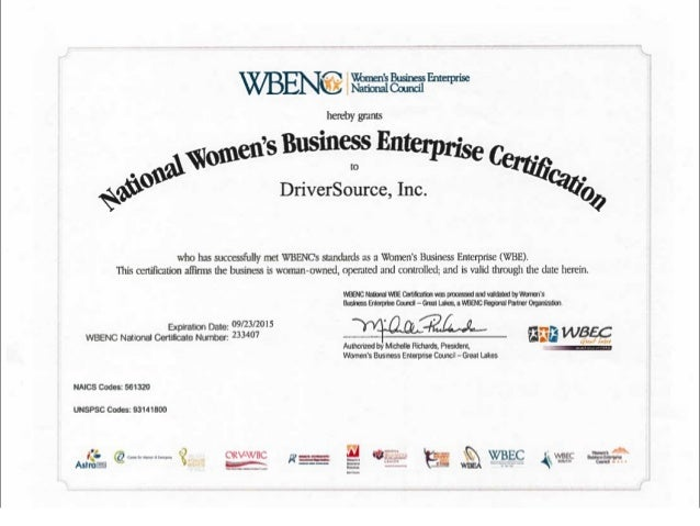 DriverSource, Inc. Business Summary  Founded in 2001  Proud Member of the Women's Business Enterprise National Council ...