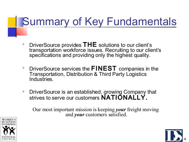 Why Partner with DriverSource?  You are in business to deliver service on time, consistently and at a reasonable cost. Dr...