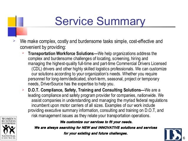 Service Summary Commercial Driver & Employee Leasing & Recruiting Services Personalized and dedicated logistics staffing i...