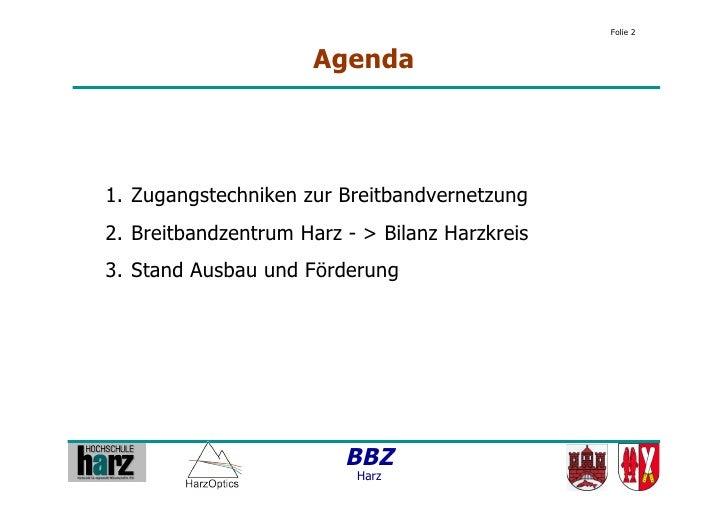 6. Breitband-Regionalkonferenz Harz Slide 2