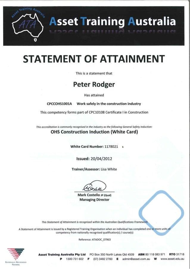 Apprenticeship Certificates