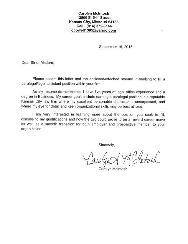 mcintosh cover letter resume pdf