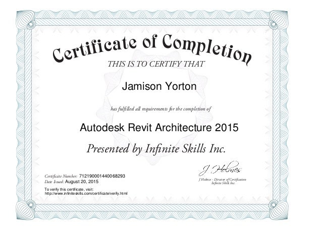 Revit Architecture 2015-Certificate