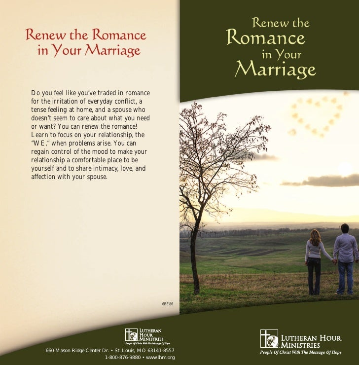 "Renew theRomance       in YourMarriage  by David J. Ludwig    Part of the ""WE, not ME""       series"