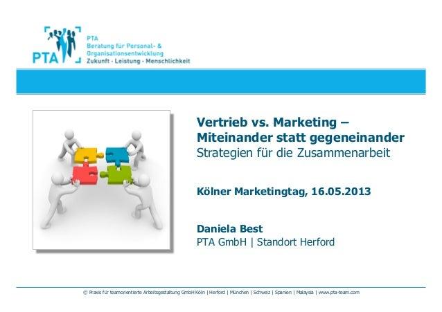 © Praxis für teamorientierte Arbeitsgestaltung GmbH Köln | Herford | München | Schweiz | Spanien | Malaysia | www.pta-team...