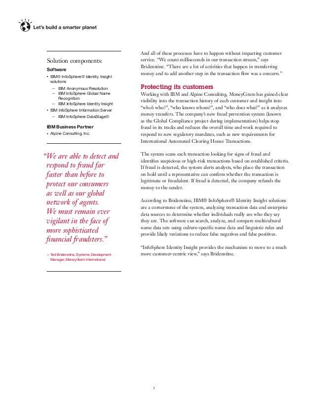 MoneyGram and IBM Big Data partnership PDF
