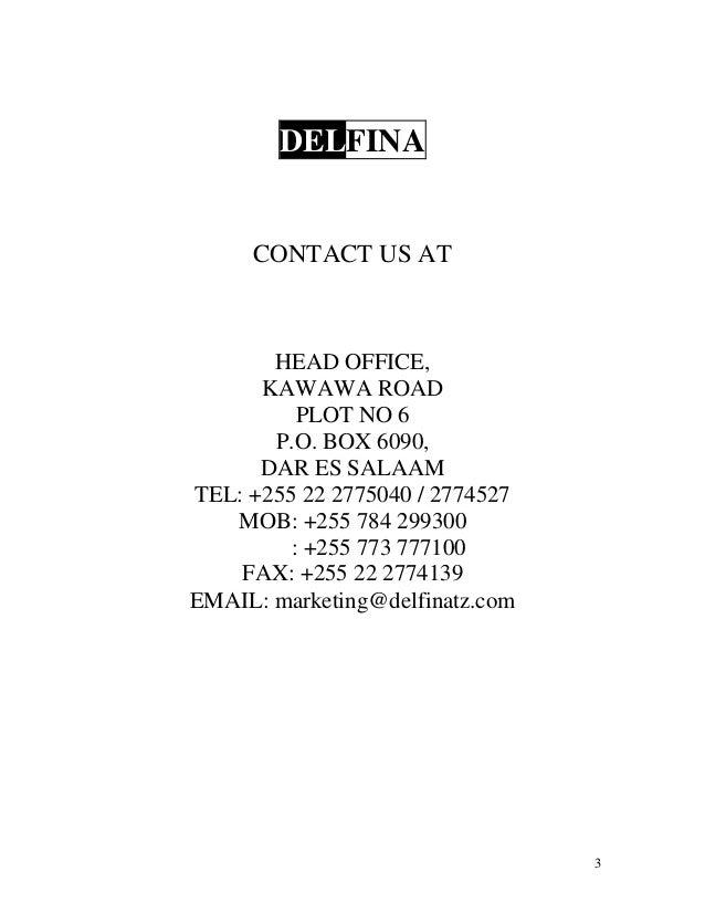 DELFINA COMPANY PROFILE