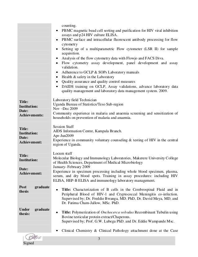 Samuel's CV.