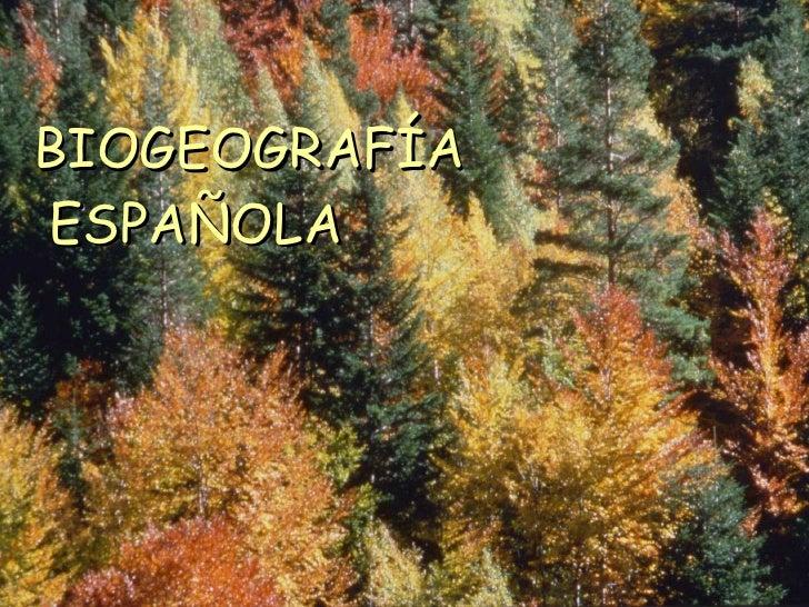 BIOGEOGRAFÍA ESPAÑOLA