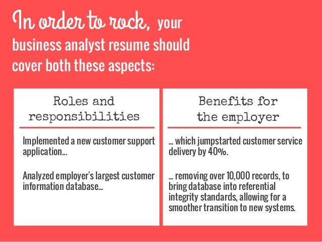 business analyst responsibilities resumes
