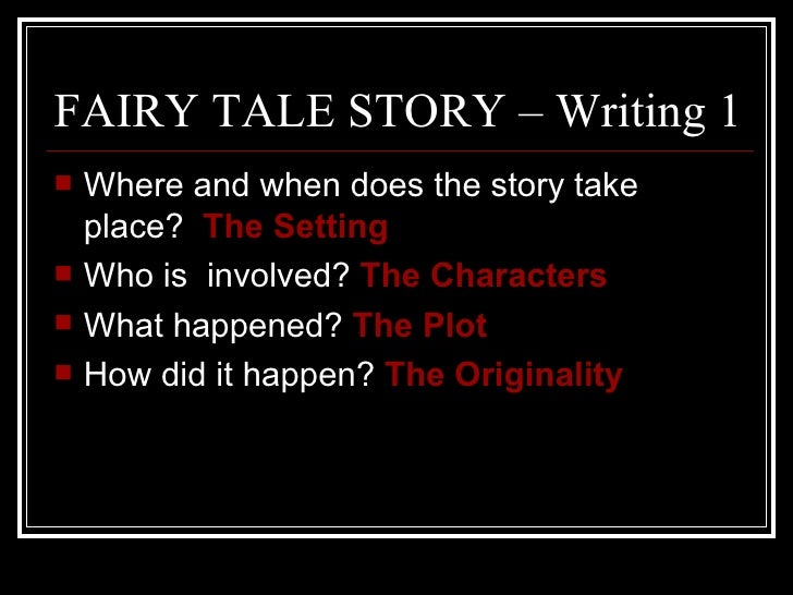 how to write a good fairy tale story