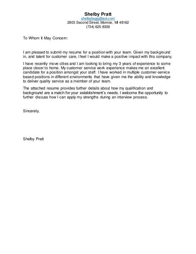 Generic Resume Cover Letter from image.slidesharecdn.com