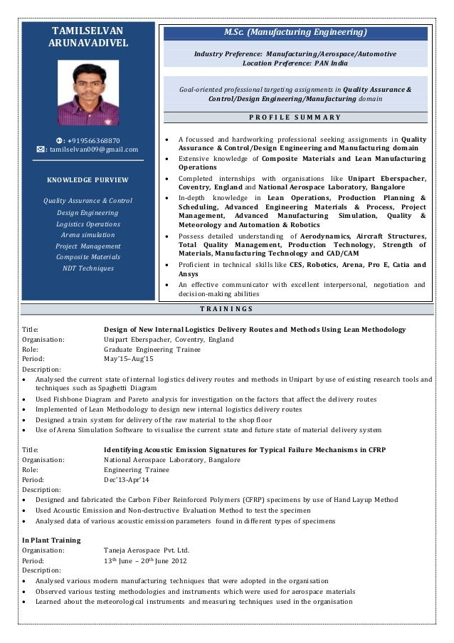 Resume Tamil