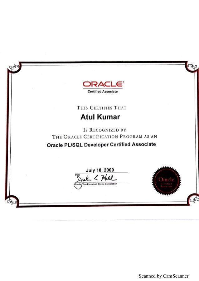 Oca Certificate