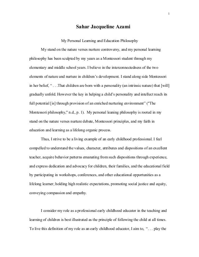 essays personal philosophy of teaching