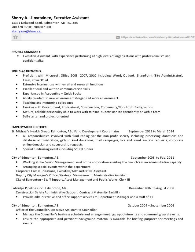 Sherry 2015 Resume Executive Assistant - TQ Edited