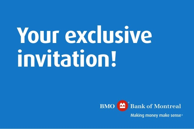 Bmo yonge st clair small business event invite your exclusive invitation stopboris Image collections