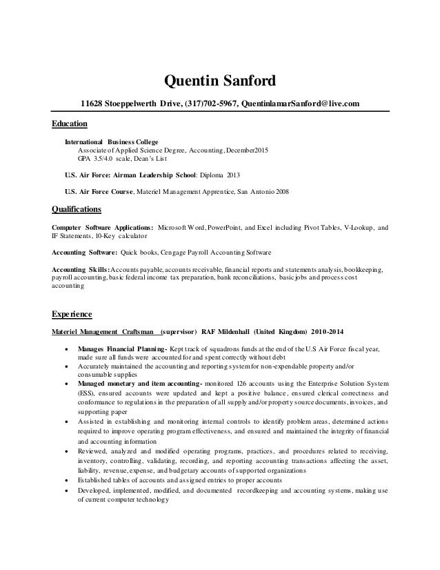 degree listing order resume