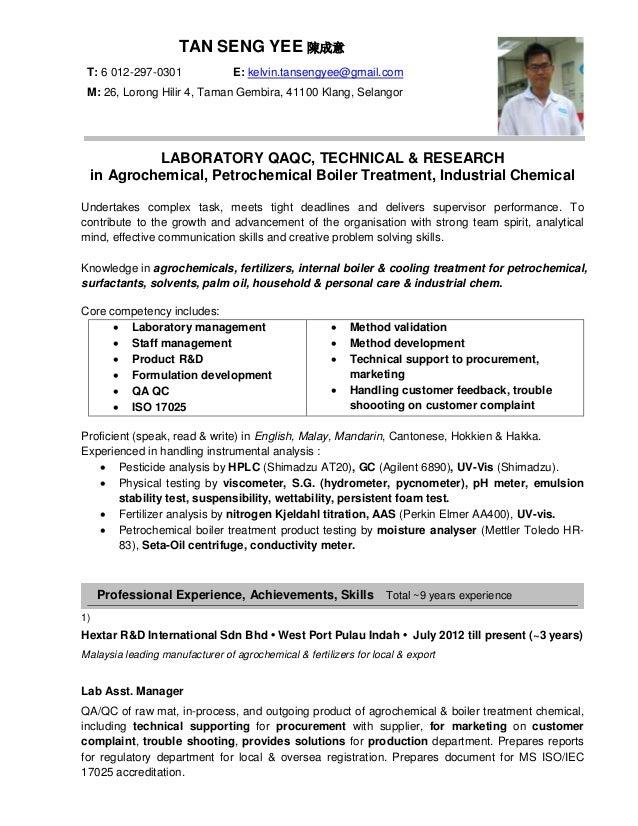 Jobstreet Resume . Tan SY . 130315