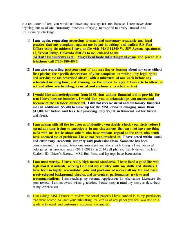 How to write a complaint letter against a teacher