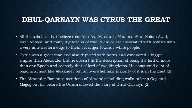 Alexander the Great in the Quran