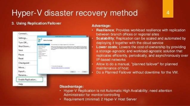 Hyper V Disaster Recovery Optimizing