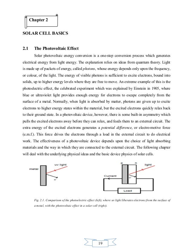Photovoltaic cell thesis