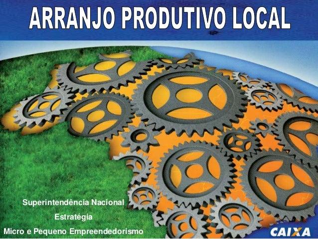 e renda  Competitividade Superintendência Nacional das MPE  Estratégia  Micro e Pequeno Empreendedorismo  Associação e a c...