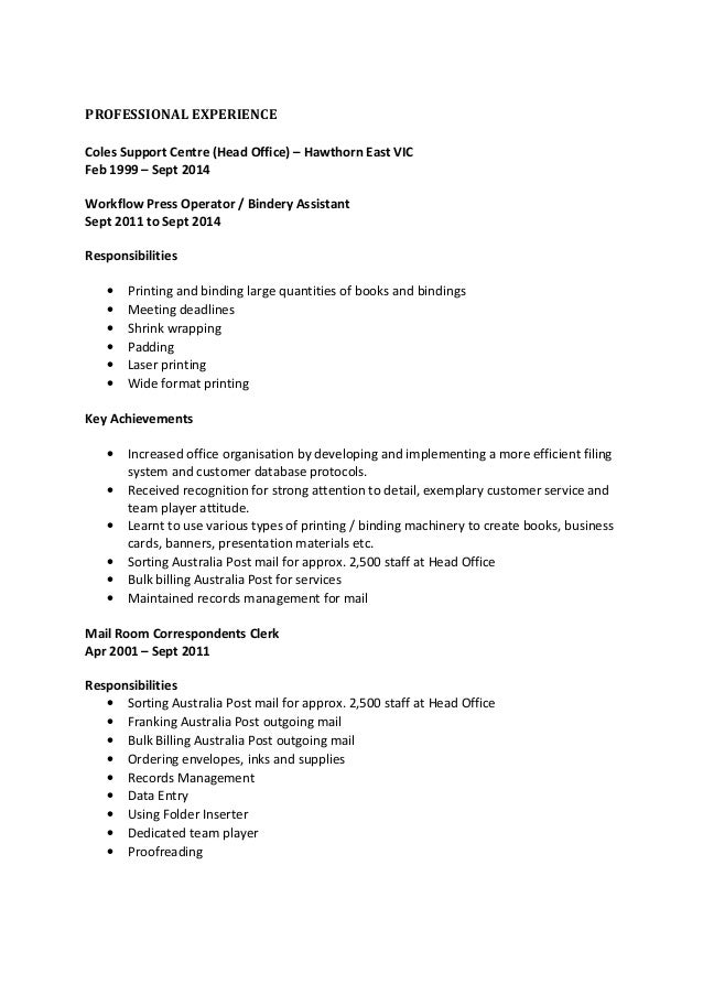 bindery operator sample resume psychology sample resume free voucher