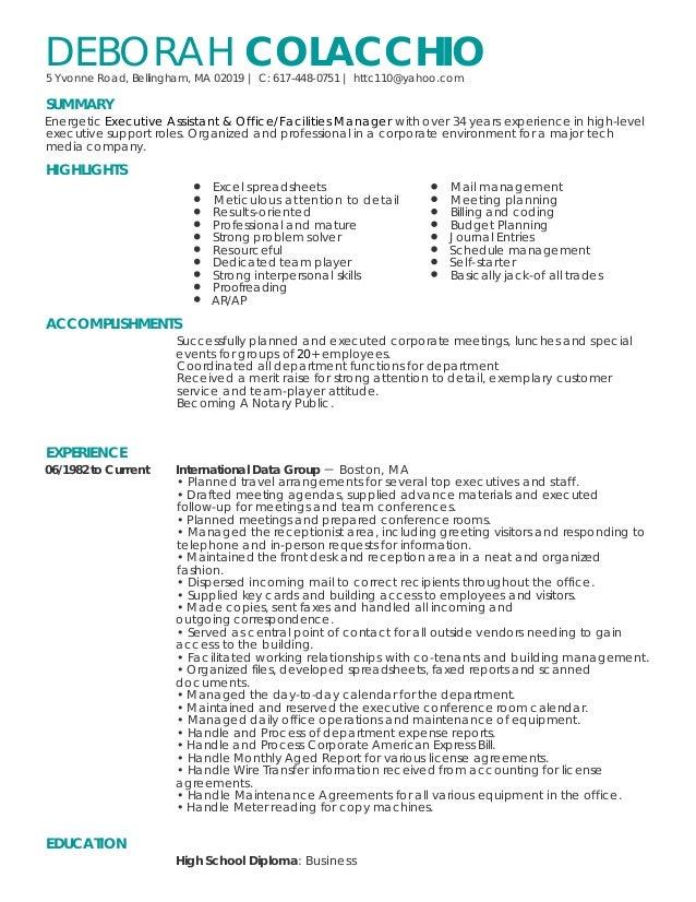 Deborah Colacchio Resume 1 2