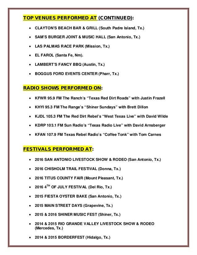 Band Resume 3 31 16